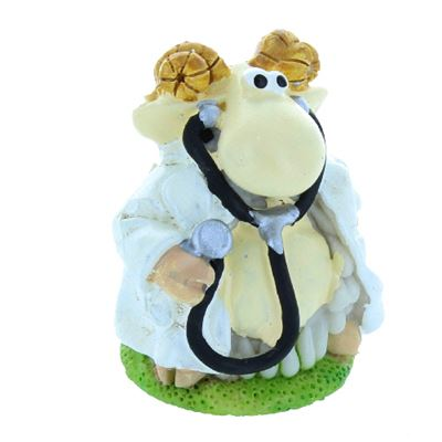 Doctor with Stethoscope Mini Sheep