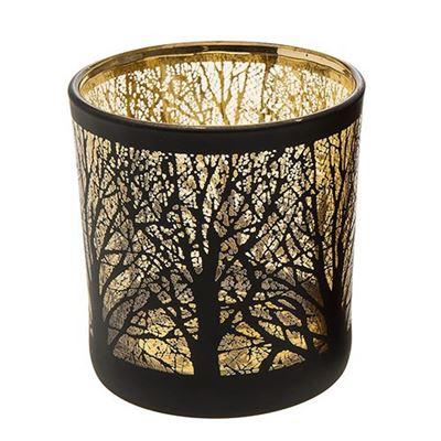 Forest Glow Candle Holder Large Gold Glow