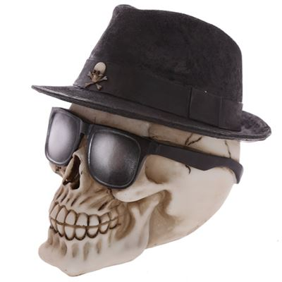 Skull with Trilby and Glasses