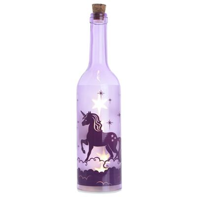 Purple Unicorn Bottle with LED Lights