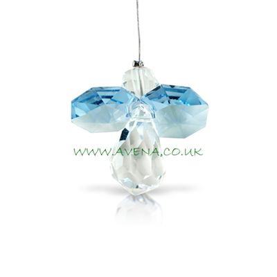 Blue Aquamarine Crystal Angel