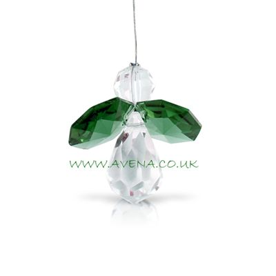 Green Emerald Crystal Angel