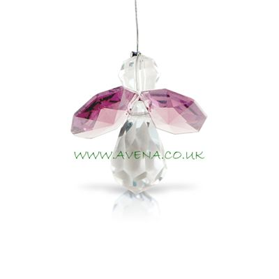 Pink Rose Crystal Angel