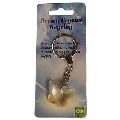 Butterfly Crystal Key Ring