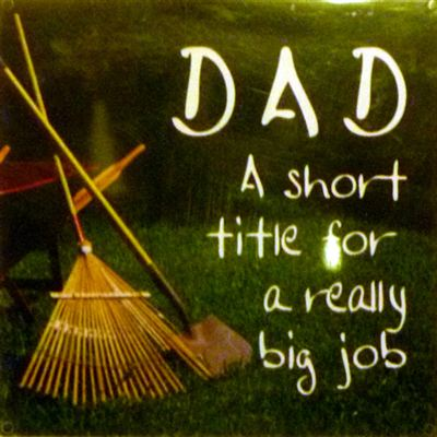 DAD A short title for a really big job Fridge Magnet 009
