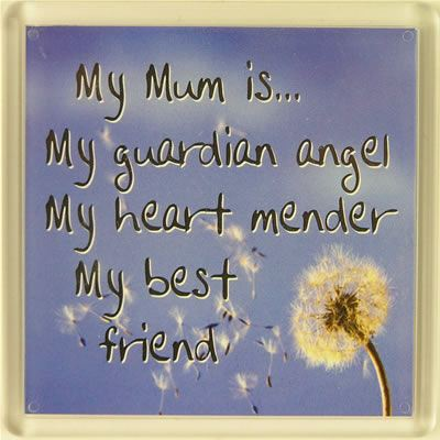 My Mum is... My guardian angel, My heart mender, My best friend Fridge Magn...
