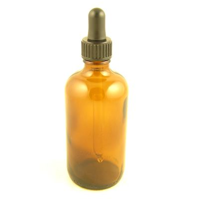 Glass Bottles Amber Kingston with Glass Pipette Screw On Cap 100ml