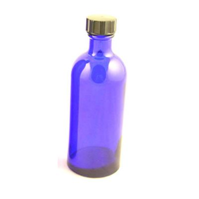Glass Bottles Blue Helmsley with Black Cap 100ml