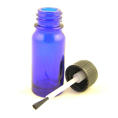 Glass Bottles Blue with Brush Cap 10ml
