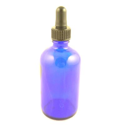 Glass Bottles Blue York with Glass Pipette Screw On Cap 50ml