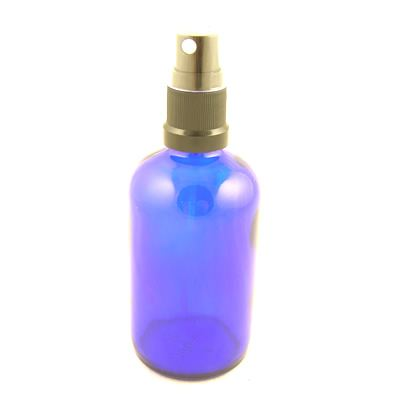 Glass Bottles Blue York with Mist Sprayer  Atomiser Cap 100ml