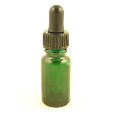 Glass Bottles Green Durham with Glass Pipette Screw On Cap 10ml