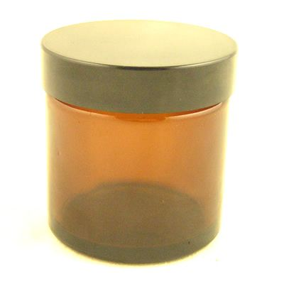 Glass Jar Amber with Black Cap 60ml