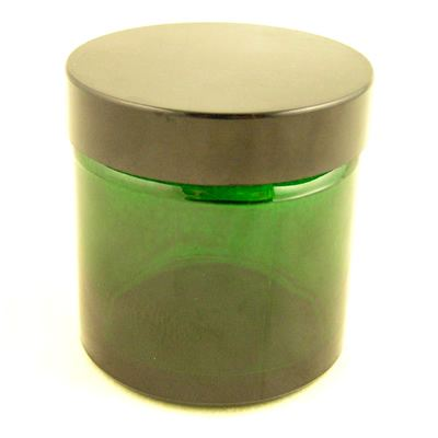 Glass Jar Green with Black Cap 60ml