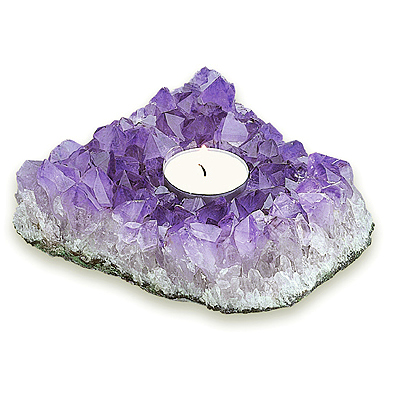 Amethyst Candle Holder Large