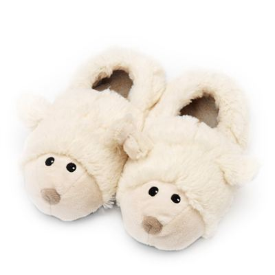 Microwavable Kids Sheep Slippers