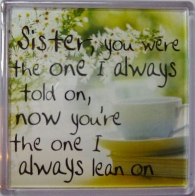 Sister, you were the one I always told on... Fridge Magnet 012
