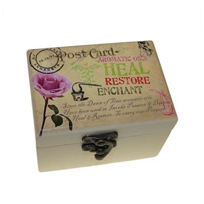 Aromatherapy Oil Box Heal & Restore Design for 6 Bottles