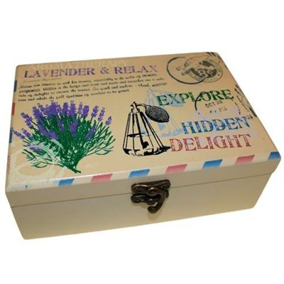 Lavender Design Aromatherapy Oil Box for 24 Bottles
