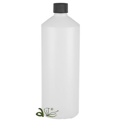 Plastic Bottles Frosted Slim with Black Cap 1000ml