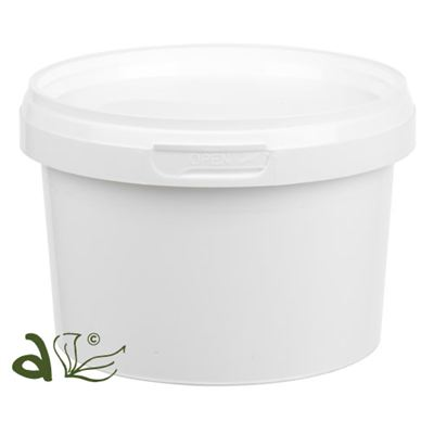 Plastic Tub Solid White with Tamper Evident Cap 500ml