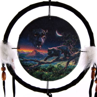 Panther & Moon Dream Catcher Small