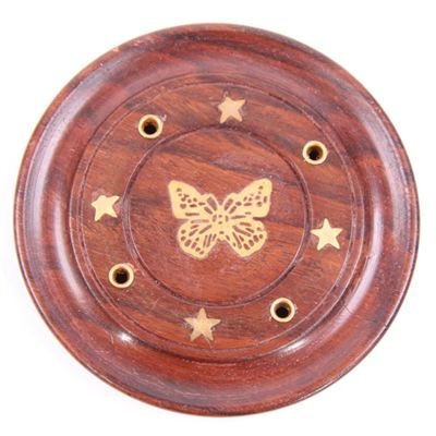 Butterfly Incense Stick & Cone Holder Round