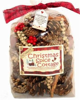 Christmas Spice Cottage Cones and Pods Scented Bag 500g