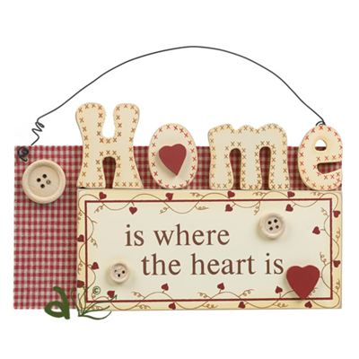 Home Is Where The Heart Is Hanger