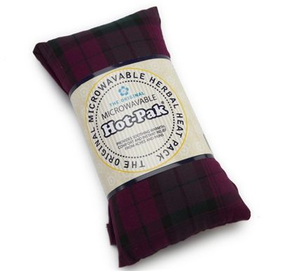 Wine Tartan Wheat Bag