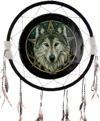 Wolf Head & Star Dream Catcher Extra Large