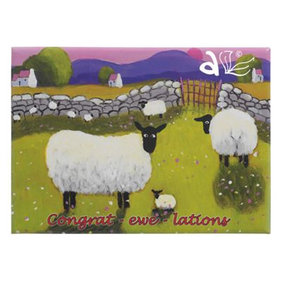 Congrat-ewe-lations Sheep Magnet by Thomas Joseph