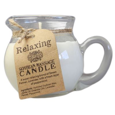 Relaxing Massage Candle in Pourable Jar