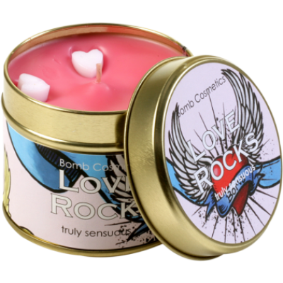 Love Rocks Candle in a Tin