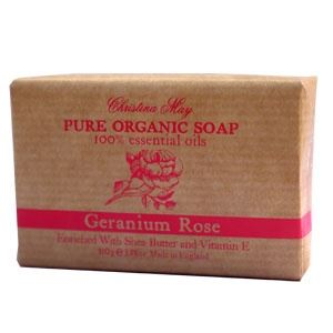 Geranium Rose Organic Soap 110g by Christina May