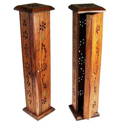 Square Incense Tower Wood