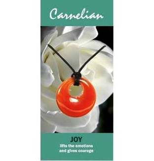 Carnelian Agogo Necklace Natural Jewellery for Joy