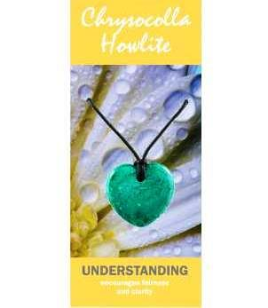 Chrysocolla Howlite Heart Necklace Natural Jewellery for Understanding