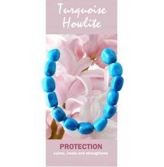 Turquoise Howlite Bracelet Natural Jewellery for Protection