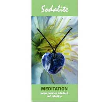 Sodalite Heart Necklace Natural Jewellery for Meditation