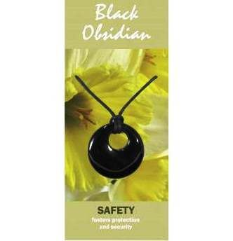 Black Obsidian Agogo Necklace Natural Jewellery for Safety