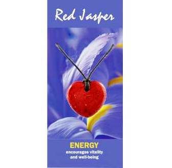 Red Jasper Heart Necklace Natural Jewellery for Energy