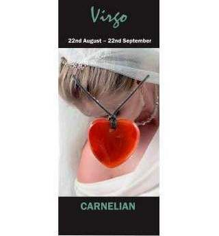 Virgo Natural Jewellery Heart Necklace