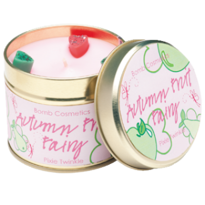 Autumn Fruit Fairy Candle in a Tin