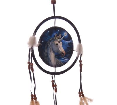 Unicorn Dream Catcher by Lisa Parker Small
