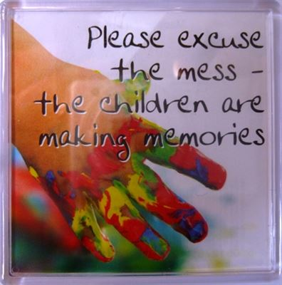 Please excuse the mess... Fridge Magnet 123