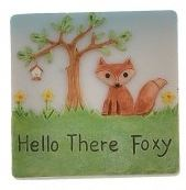 Hello There Foxy Resin Fox Magnet Gift