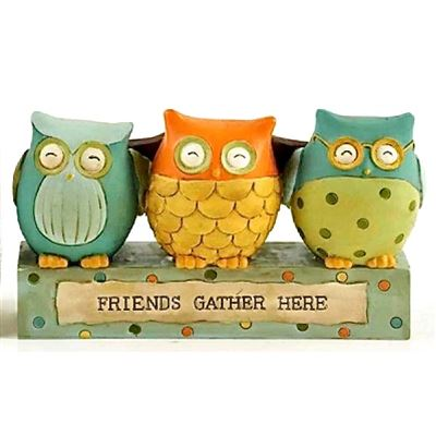 Friends Gather Here Owl Block