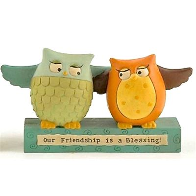 Our Friendship is a Blessing Owl Block