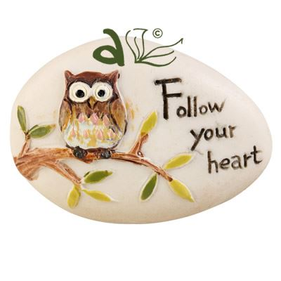 Follow Your Heart Decorative Pebble